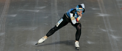 Germany's Friesinger skates to new track record