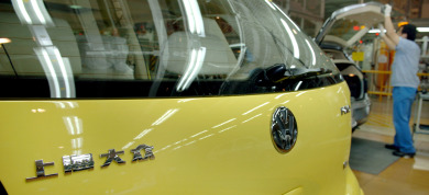 VW opens gigantic car factory in China