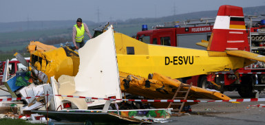 Plane and train crashes kill one, injure 42 in Germany