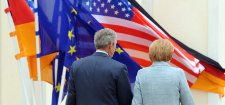 Bush urges Germany to cut business ties with Iran