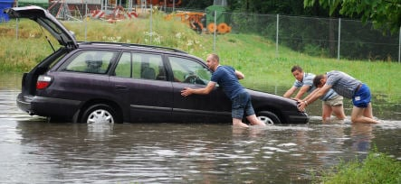 Germany sinks in soggy weather