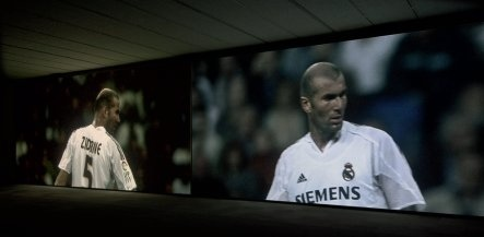 On the pitch with Zidane