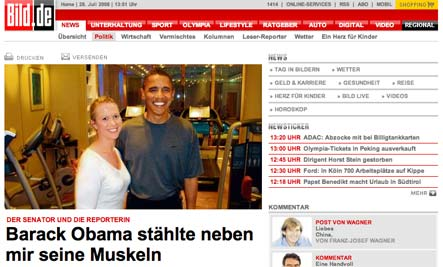 Obama says he got 'hustled' by German tabloid
