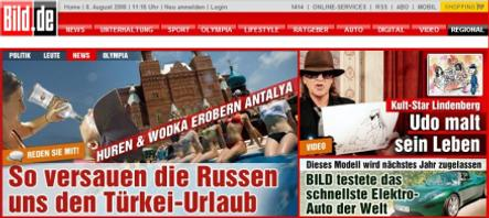 Bild: Russians ruining German holidays with 'whores and vodka'
