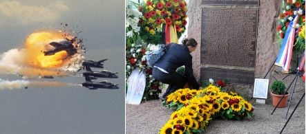 Politicians, victims remember air show disaster