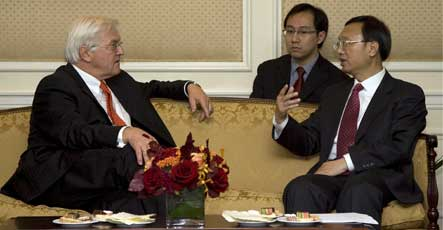 Germany and China call for unity on Iranian nuclear programme