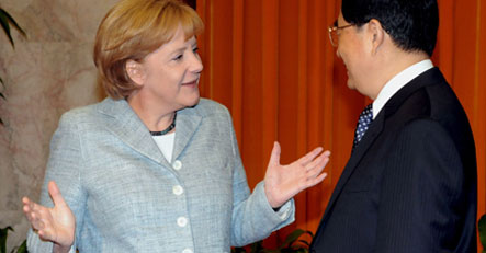 China's Hu labels ties with Germany 'good'
