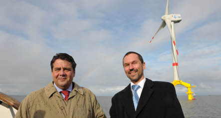 Germany opens first offshore wind farm