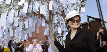 Yoko Ono's art proves a bigger draw than expected in Bielefeld
