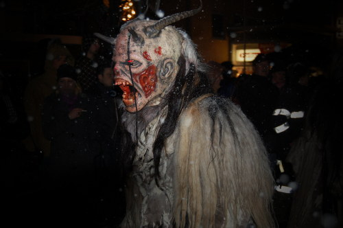 The hairy creatures with goat heads and horns are part of German Christmas tradition and come out the night before St Nicholas on Dec. 5.Photo: by-sassi / PIXELIO
