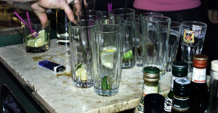 Police tend bar for hammered waitress