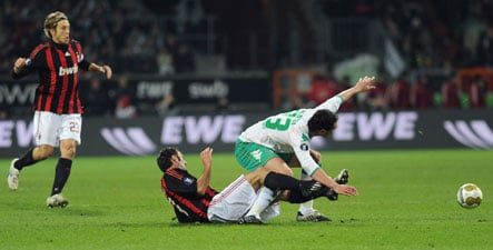 Werder scores a late equaliser against Milan
