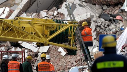 Search begins for two missing in collapse