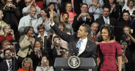 Thousands of students travel to Obama speech