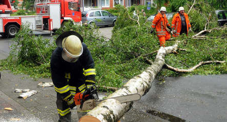 Severe storms close schools and flood roads
