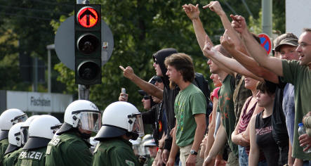 2,000 protesters expected for Germany's 60th birthday