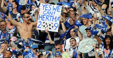 Hertha player buys beer for 74,000 fans