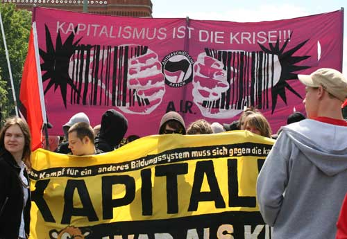 Students were protesting against recent reforms brought to the education system by the Bologna process, which introduced bachelor and master programs to German universities.Photo: Sabine Devins photo
