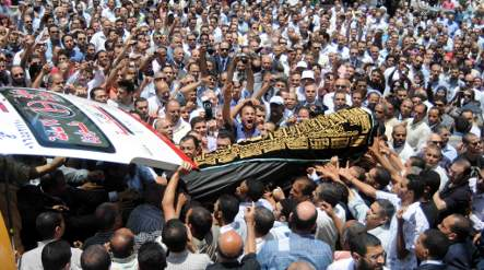 Muslims pray for murdered Egyptian woman