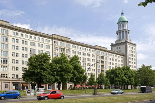 The Tower of the Frankfurter Gates dominates Karl-Marx-Allee in BerlinPhoto: DPA