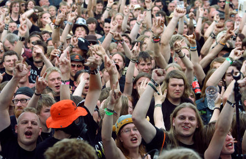 More than 75,000 fans are expected at the open air festival, which officially kicked off Thursday, July 30. Photo: DPA