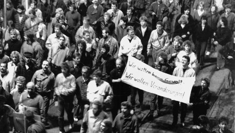 The beginning of the end of East Germany