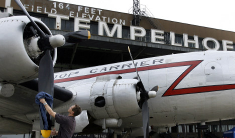 Taxiing for takeoff at Berlin's Tempelhof