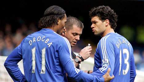 Chelsea teammates Ballack and Drogba to miss friendly