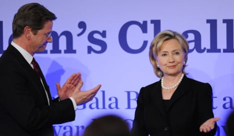 Clinton uses Wall fête to speak against extremism