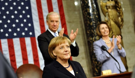 Merkel offers thanks but presses US on climate