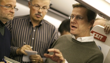 Westerwelle arrives in US for talks with Clinton