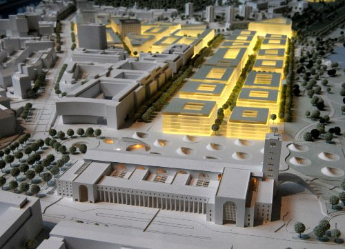 Here, an artist's rendering of the new train station plans.Photo: DPA