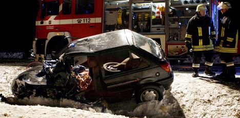 Icy roads cause series of accidents