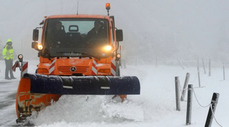 Child caught ploughing snow with excavator