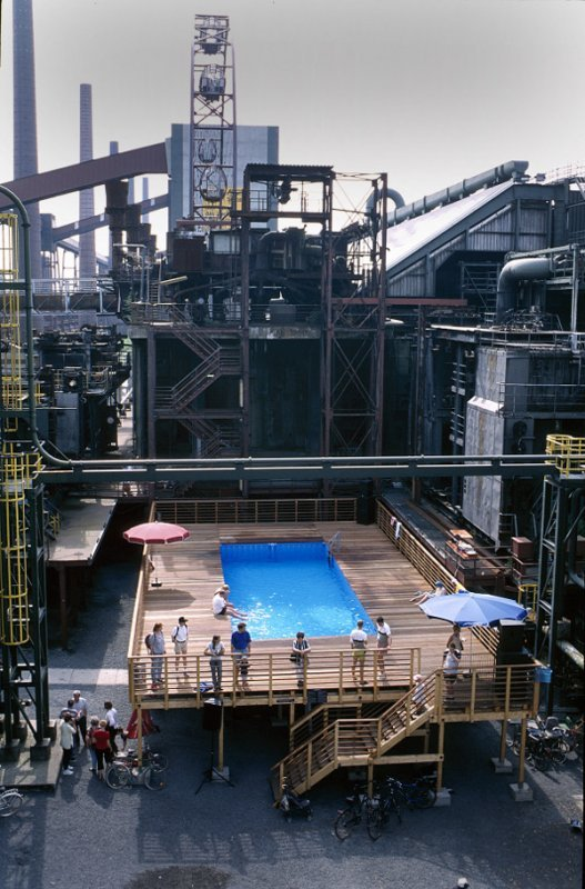 Swimming pool at the Zollverein coking plant in Essen  Photo: RUHR.2010