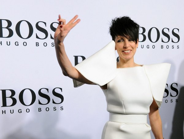 German singer Nena arrives for the show of the label 'Boss Black' at the Mercedes-Benz Fashion Week in Berlin on January 21, 2010Photo: DPA