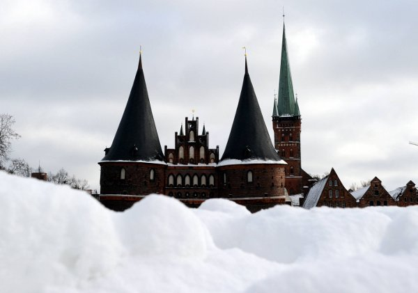 The Holsten Gate in Lübeck on Wednesday.Photo: DPA