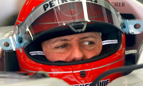 Schumi revved up and ready to go