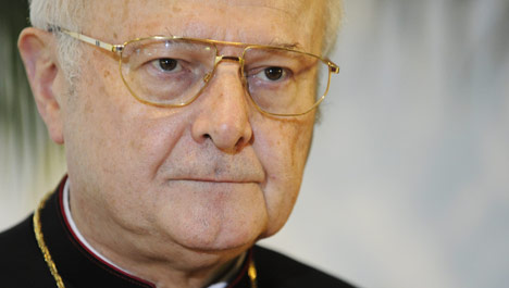 Zollitsch says pope 'warning' German clergy