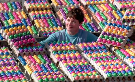 Chicken shortage forces Easter bunny to import eggs