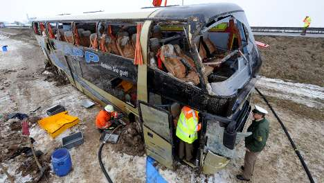 Two dead in bus crash caused by coughing fit