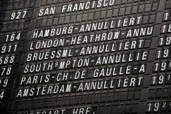 Cancelled flights at the Frankfurt airport on Thursday. Photo: DPA