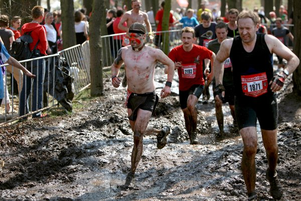 The ''Dirty Dancing'' obstacle involves running through pits of mud.Photo: Penny Bradfield