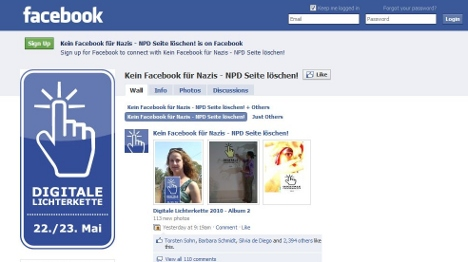 Facebook group launches 'virtual protest' against neo-Nazis