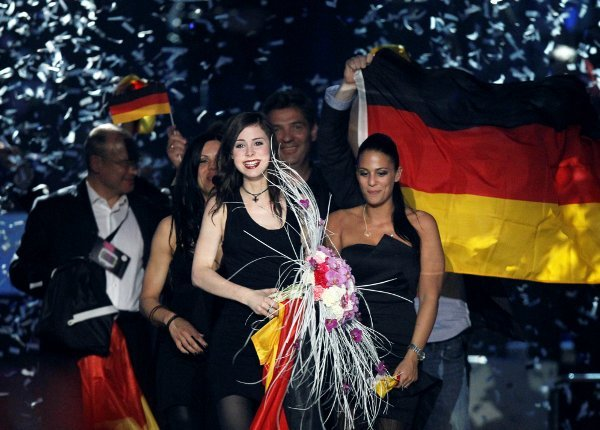 """It's the second time Germany has won the legendary song contest in its 55-year history after Nicole's """"A Little Peace"""" in 1982.Photo: DPA"""