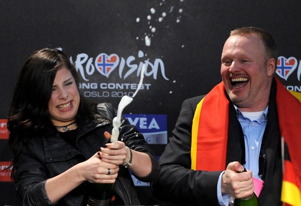 TV personality Stefan Raab, who has mentored Lena Meyer-Landrut since she won a national casting show to represent Germany at Eurovision, mooted the possibility the teenager could take part in the competition again next year.Photo: DPA