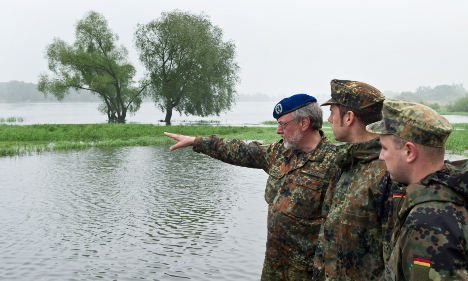 Floodwaters heading towards Germany