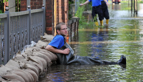 Flooding eases in the east