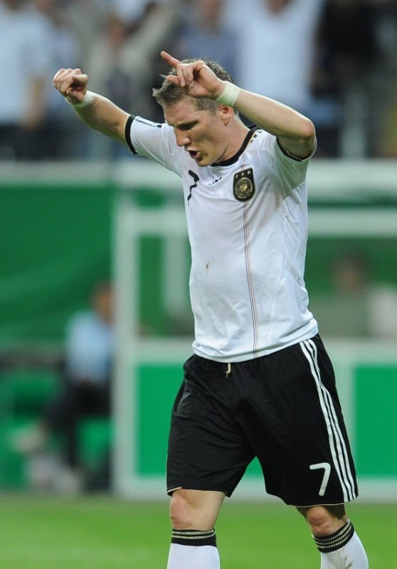 Bastian Schweinsteiger<br>At just 25-years-old Bastian Schweinsteiger is one of the most capped players on the team, with over 70 international appearances. He recently moved position from left wing to central midfield and looks likely to become the team's main playmaker. He has proved himself multiple times both for Germany and for his home and club Bayern Munich. Photo: DPA