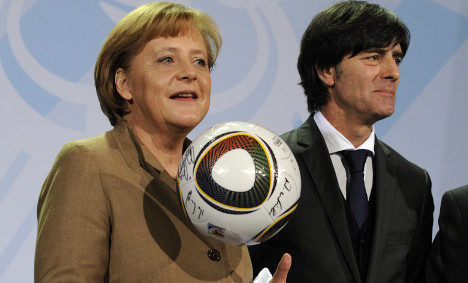 Merkel in the crowd for Argentina clash